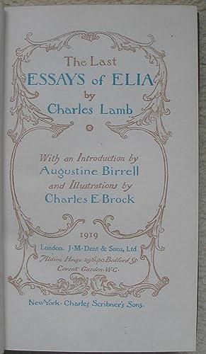 The Last Essays of Elia: LAMB, Charles