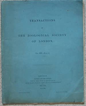 Transactions of the Zoological Society of London - Vol X1V - Part 6