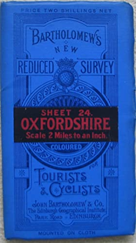 Bartholomew's New Reduced Survey Map of Oxfordshire 1911 - very fine condition