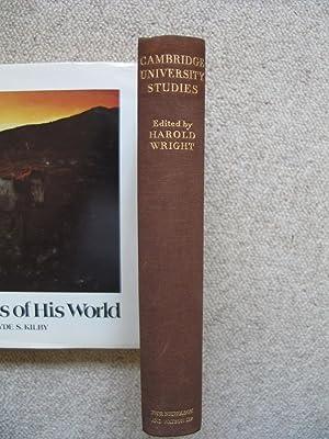 University Studies Cambridge 1933: WRIGHT, Harold