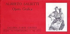 Catalogo mostra ALBERTO SALIETTI Opera Grafica. Galleria: ALBERTO SALIETTI