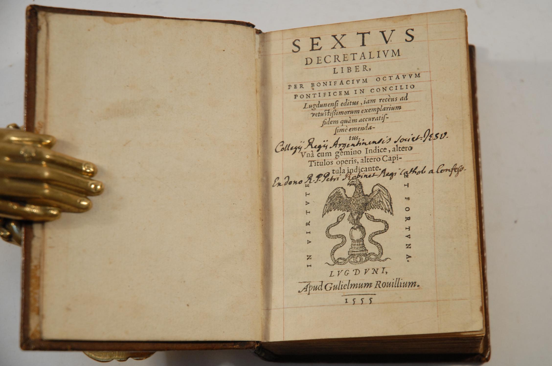 sextus decretalium liber jam recens ad vetustissimorum exemplarium fidem quam accuratissime. Black Bedroom Furniture Sets. Home Design Ideas