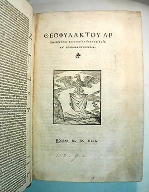 In quatuor Evangelia enarrationes: THEOPHYLACT