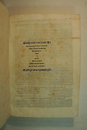 In quartum sententiarum resolute questiones [with] Questiones: MIDDLETON, Richard of