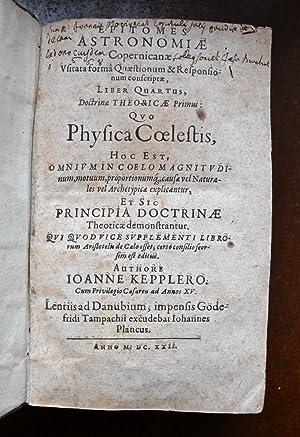 Epitome Astronomiae Copernicanae.Linz, Planck, 1618 (with) Epitomes: KEPLER, Johannes