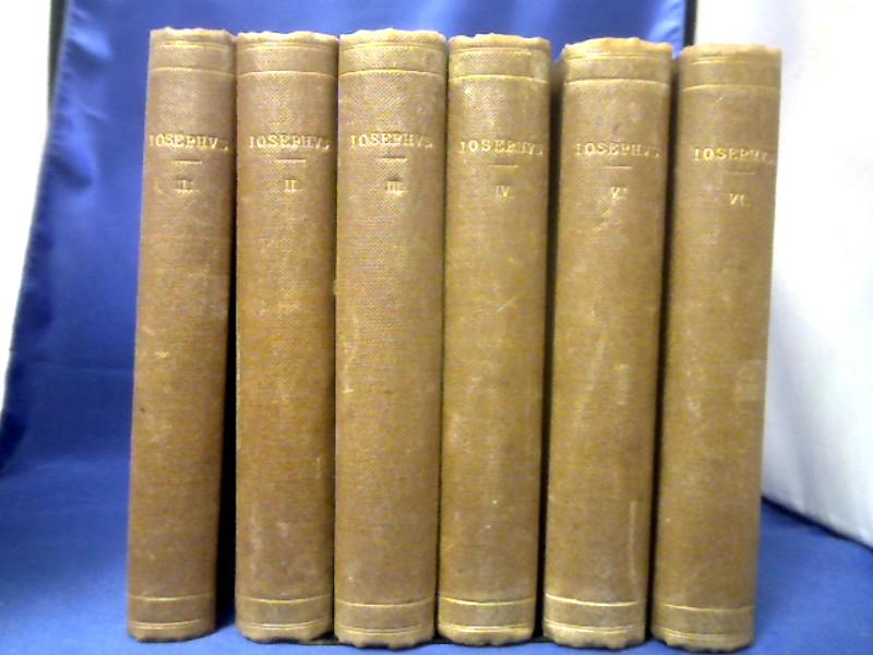 Flavii Iosephi Opera Omnia. 6 Bände. Post: Flavius Josephus und