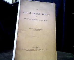 Der St. Galler Palimpsest der Diuinae Institutiones: Brandt, Samuel.