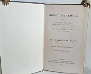 The Phaedrus of Plato. With English Notes and Dissertations by W.H. Thompson.