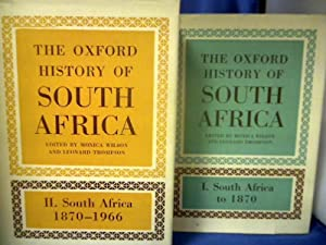 The Oxford History of South Africa. 2 Bände. Band 1: South Africa to 1870. Band 2: South Africa 1...