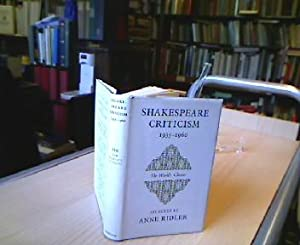 Shakespare Criticism 1935-60. Selected with an Introduction: Ridler, Anne (ed.).