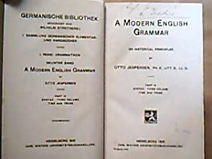 A Modern English Grammar on Historical Principles.: Jesperson, Otto.