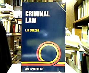 Criminal Law (The M & E Handbook series).