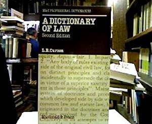 Dictionary of Law (M&E Professional Dictionaries).
