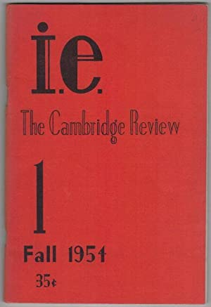 i.e. The Cambridge Review 1 Fall 1954: Corso, Gregory