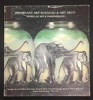 Important Art Nouveau & Art Deco Works