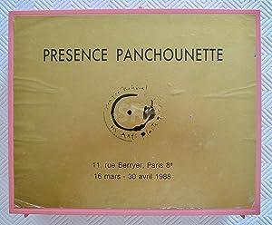 Présence Panchounette, 1988.: TRONCHE (A.), SOULILLOU