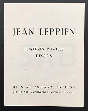 Jean Leppien. Peintures, dessins 1947 - 1953.