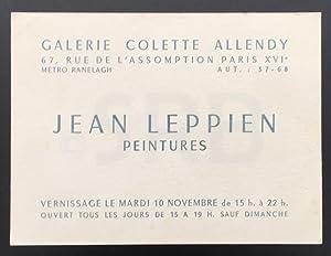 Jean Leppien. Peintures.