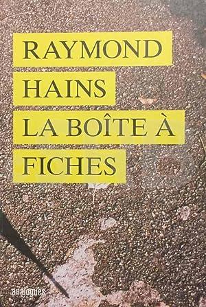 Raymond Hains. La boîte à fiches.: ELKAR (C.), DANIEL