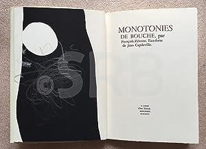 Monotonies de bouche. Eau-forte de Jean Capdeville.-: ZENONE (F.).