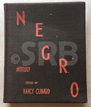 Negro anthology.- Edition originale, avec un envoi: CUNARD (Nancy).