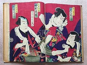 Album de cinquante-six estampes japonaises d'acteurs de: KUNICHIKA (T.).