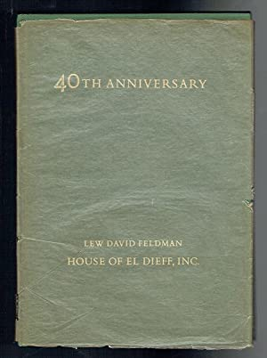 1975 Fortieth Anniversary Catalogue Containing Forty Selections: Feldman, Lew David