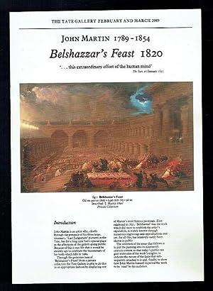 John Martin 1789-1854 Balshazzar's Feast 1820. February: Hamlyn, Robin