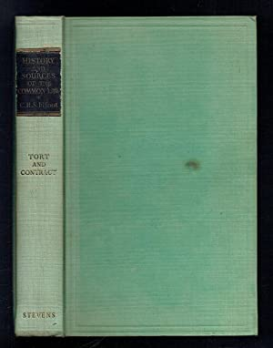 History and Sources of the Common Law: Fifoot, C H