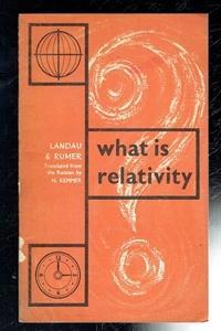 landau l d rumer g b - what is relativity - AbeBooks