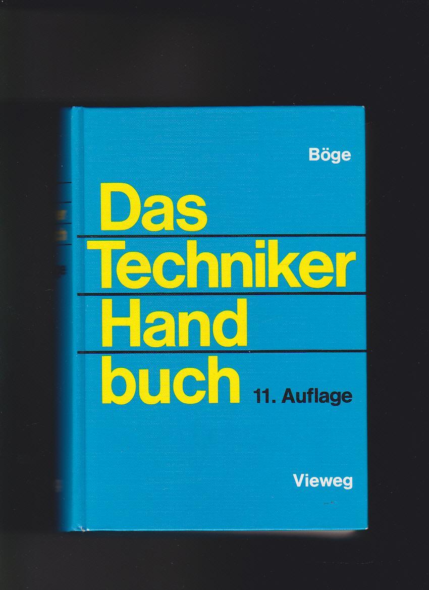 Alfred Böge, Das Techniker-Handbuch: Böge, Alfred (Hrsg.):