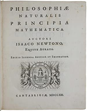 Philosophiae naturalis principia mathematica. Editio secunda auctior: NEWTON, Sir Isaac.