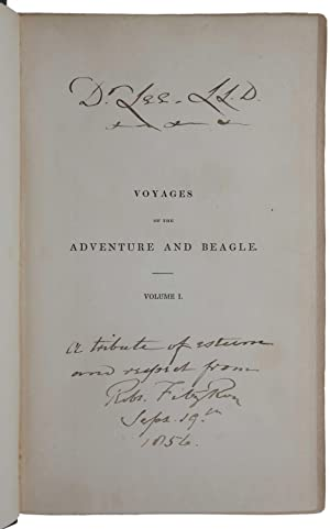 Narrative of the Surveying Voyages of His: DARWIN, Charles and