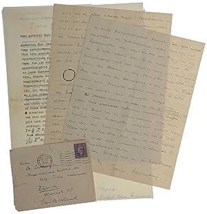 """Autograph letter signed (""""Werner Hesenberg"""") to Joaquin: HEISENBERG, Werner."""