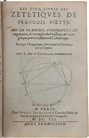 Introduction en l'art analytic. ou Nouuelle algebre: VIÈTE, François [&