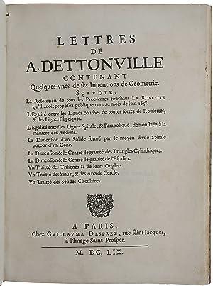 Lettres de A[mos] Dettonville contenant Quelques-unes de: PASCAL, Blaise.