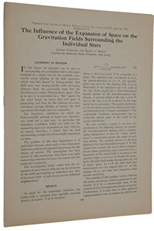 The Influence of the Expansion of Space on the Gravitation Fields Surrounding the Individual Star...
