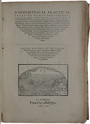 A geometrical practical treatize named Pantometria, divided into three bookes, longimetra, planim...