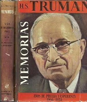 Memorias de Harry S. Truman (Tomo I y II): Truman, Harry S.