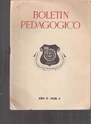 Boletín pedagogico, año II-num. 8: Mohedano Hernández, José