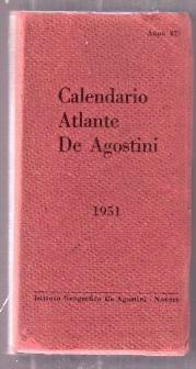 Calendario 1951.Calendario Atlante De Agostini 1951