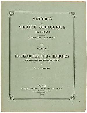MÃ moire sur les dinosauriens et les: SAUVAGE, M. H.-E.