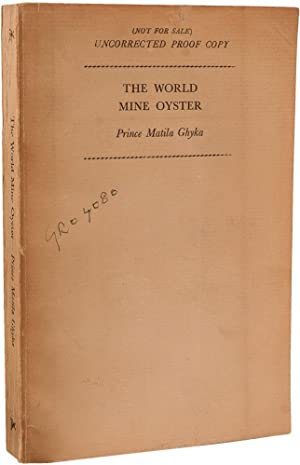 The World Mine Oyster. The Memoirs of: FERMOR, Patrick Leigh