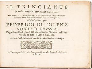 Il Trinciante [bound with] Lo Scalco.: GIEGHER, Mattia.