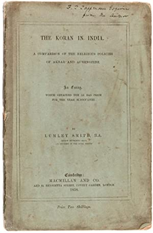 The Koran in India. A Comparison of: SMITH, Lumley.
