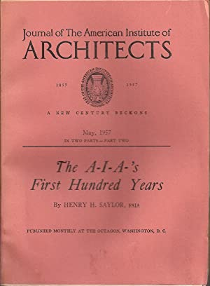 Journal of the American Institute of Architects: American Institute of