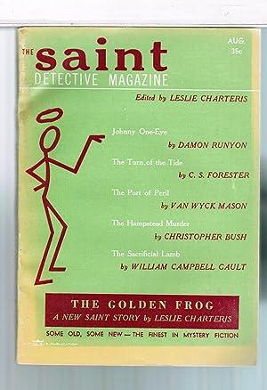 Saint Detective Magazine 1955 August: Leslie Charteris; Damon