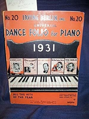 Universal Dance Folio For Piano No. 20 Irving Berlin