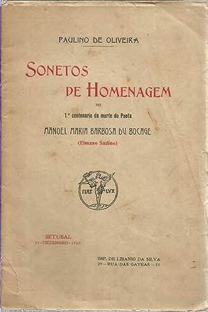 Sonetos de Homenagem no I Centenário da: Oliveira, Paulino de