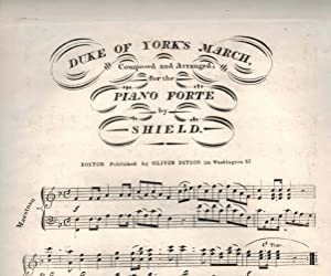 Duke of York's March - Vintage Piano Sheet Music